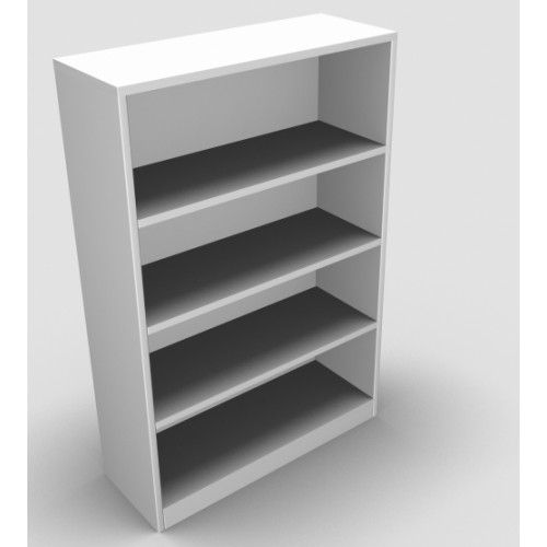 CLASSIC Bookcase Unit 1200mm high x 800mm wide x 300mm deep  - White