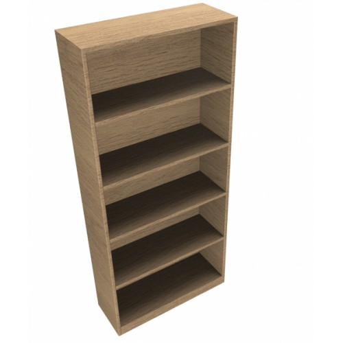 CLASSIC Bookcase Unit 1800mm high x 800mm wide x 300mm deep  - Chester Oak