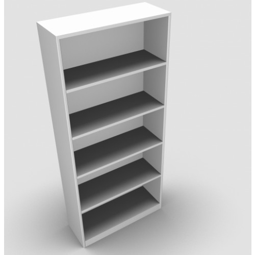 CLASSIC Bookcase Unit 1800mm high x 800mm wide x 300mm deep  - White
