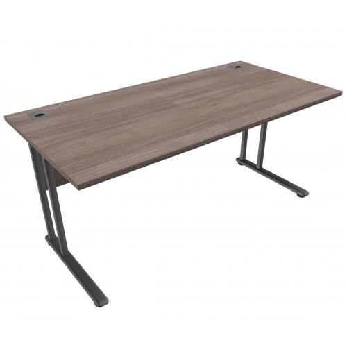 CLASSIC 1600mm wide Rectangular Cantilever Leg Desk - English Walnut