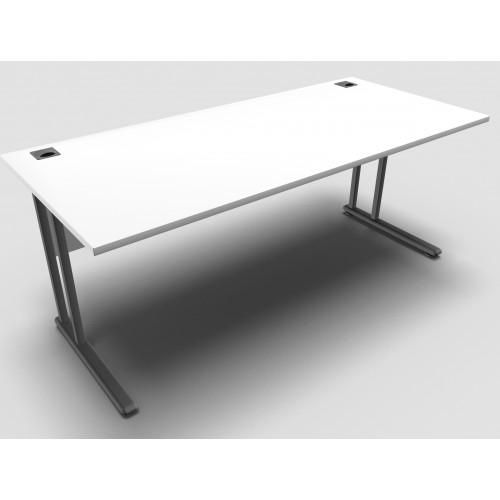 CLASSIC 1800mm wide Rectangular Cantilever Leg Desk - White