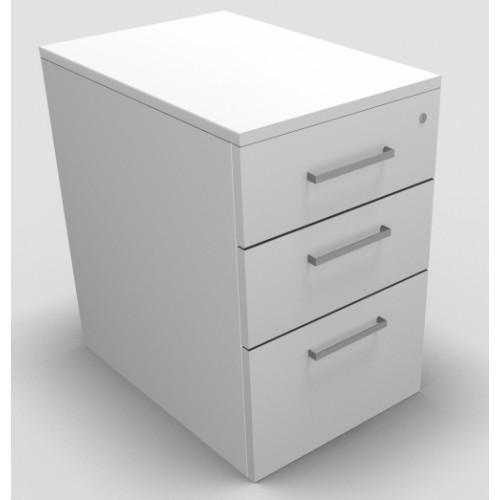 CLASSIC Mobile under desk Drawer Pedestal with 2 Std drawers and 1 x Filing drawer - White