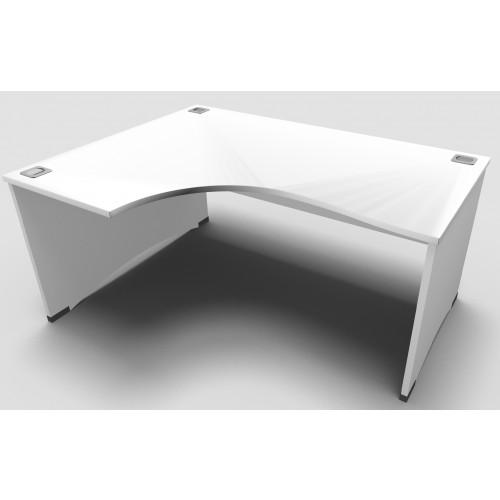 CLASSIC 1800mm X 1200mm Left Hand Panel End Crescent Desk - White