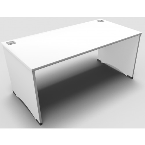 CLASSIC 1600mm wide Rectangular Panel End Desk - White