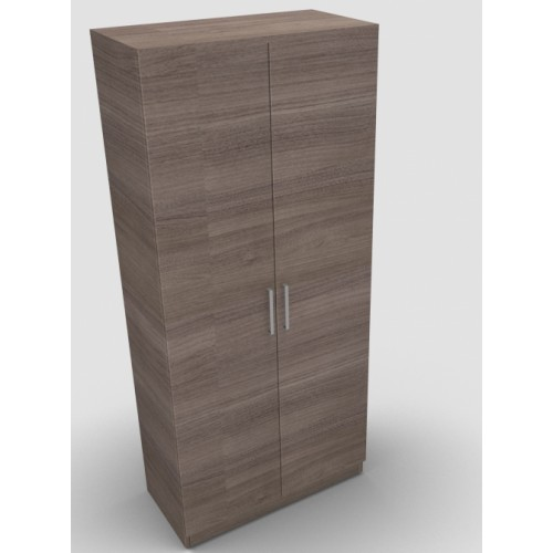CLASSIC 2 Door Stationery Cupboard 1800mm high x 800mm wide x 400mm deep, lockable supplied with 2 keys  - English Walnut