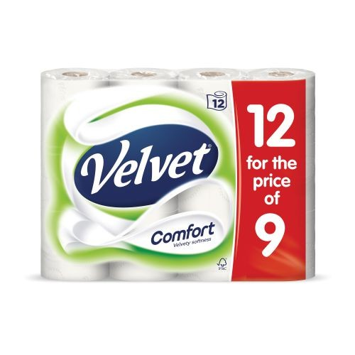 Triple Velvet Toilet Roll PK18 For The Price of PK12