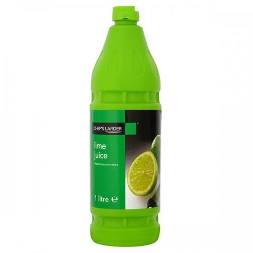 Chefs Larder Lime Juice 1 Litre - Single Bottle