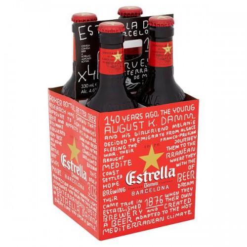 Estrella Damm Barcelona Beer 4 x 330ml Case of 6 (24)