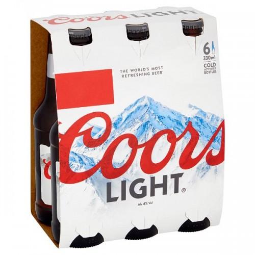 Coors Light  6x 330ml Case of 4  (192725)  (24)