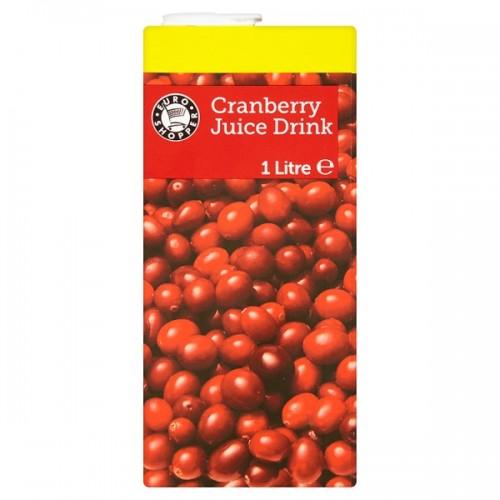 Euro Shopper Cranberry Juice Drink 1 Litre case of 12