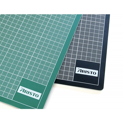 Aristo Cutting Mat A1 Double Sided Black/Green  3mm thick graduated