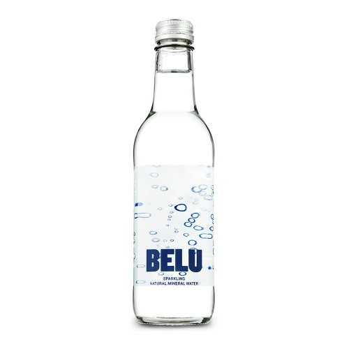 Belu Sparkling Water Glass Bottle 330ml Pack 24