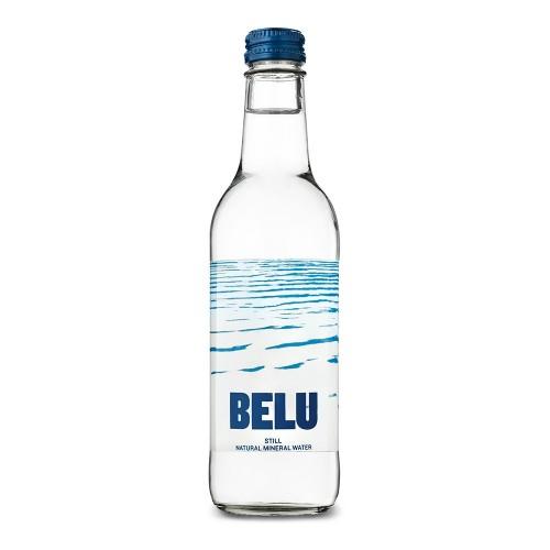 Belu Still Water Glass Bottle 330ml Pack 24  Blue Top