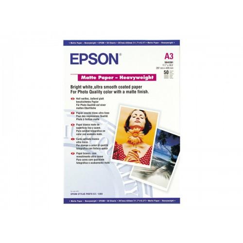Epson S041261 A3 Heavy Weight Matte Paper PK50 167gsm