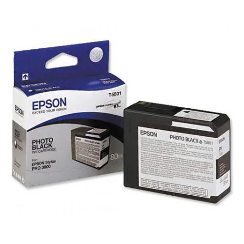 Epson Stylus Pro 3800/ 3880 UltraChrome K3 Ink - 80ml - Photo Black