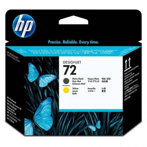 HP No. 72 Ink Printhead - Matte Black & Yellow