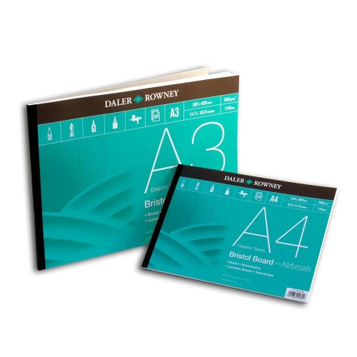 Daler Bristol Board Pad A4 Graphic Series (435620400)  250gsm  20 sheets
