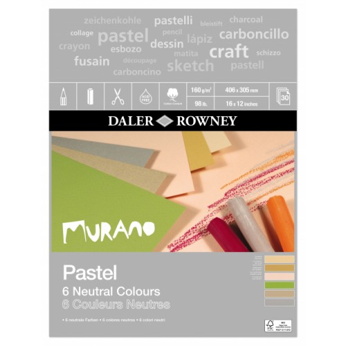 Daler Murano Pastel Neutral Colour Paper Pad 16x12 (438031612) 160gsm 30s