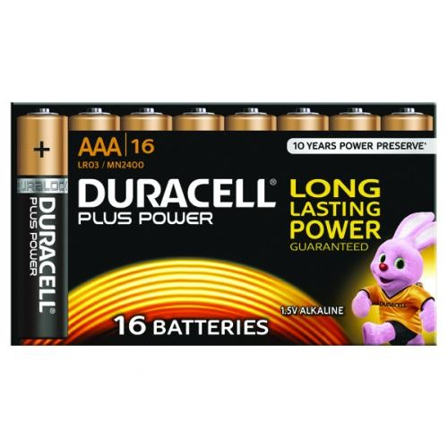 Duracell Plus Battery AAA Pk 16 81275415
