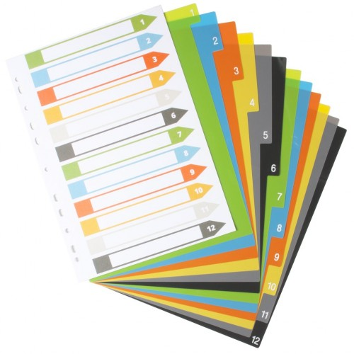 Eco Eco 4 Set 12 50% Recycled Index File Dividers