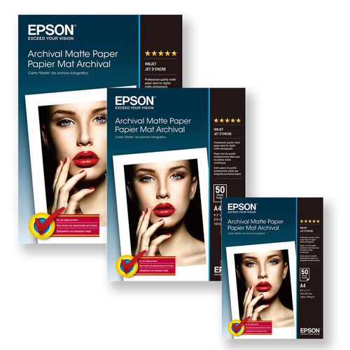 EPSON S041340 A3+ Archival Matt PPR  192gsm pk50