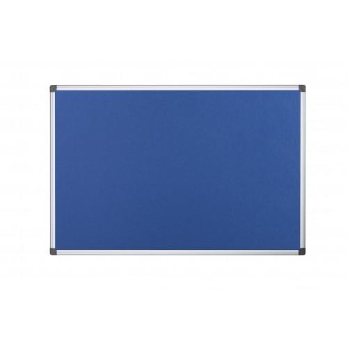 DD Bi-Office Maya Blue Felt Noticeboard Alu Frame 90x60cm
