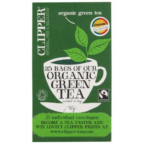 Clipper Organic Green Tea Envelope  6x 25ctn (09376C)