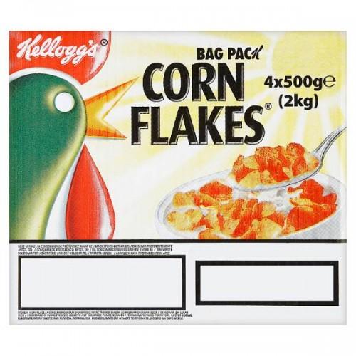Kelloggs Corn Flakes Bag Pack 4 x 500g Case of 4