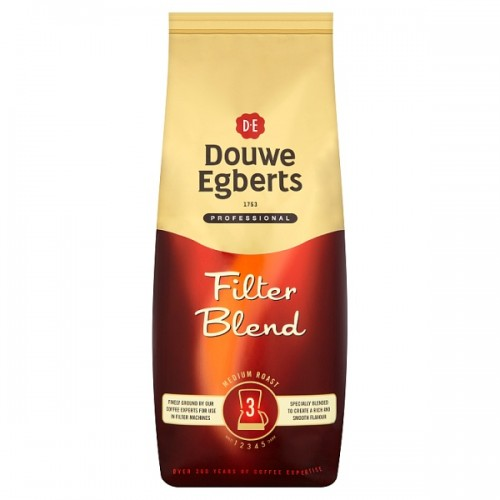 Douwe Egberts Real Coffee Medium Roast For Filters Strength 3 1000g case of 6