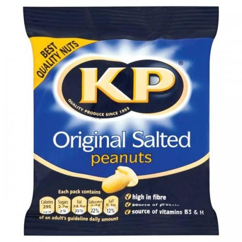KP Original Salted Peanuts 50g Case of 24