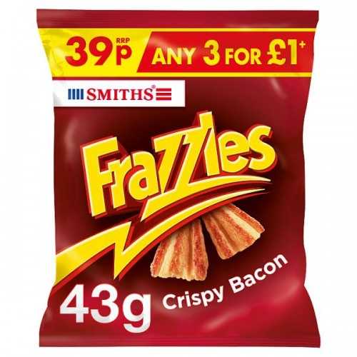 Smiths Frazzles Crispy Bacon Flavour Corn Snacks case of 30