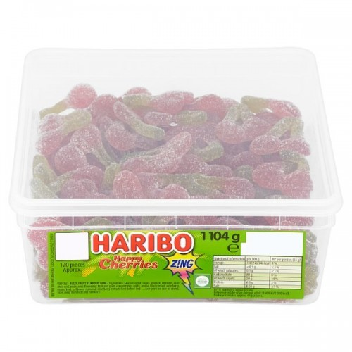 HARIBO Sour Cherries 1104g Tub  237749