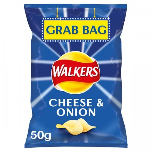 Walkers Cheese and Onion Flavour Crisps 32.5g case of 32 (201620)