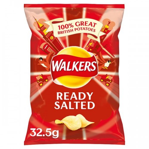 Walkers Ready Salted Crisps 32.5g Case of 32  201622