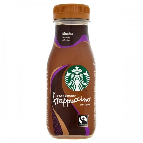 Starbucks Fairtrade Frappuccino Lowfat Coffee Drink Mocha Chocolate Flavour 250ml case of 8