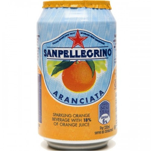 Sanpellegrino Aranciata Orange 33cl can - case of 24