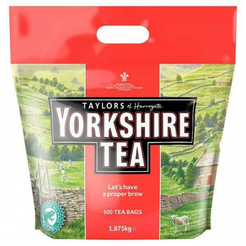 Taylors of Harrogate Yorkshire Tea 600 Tea Bags 1.875kg  Case of 4
