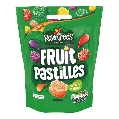 Rowntrees Fruit Pastilles 150g case of 12