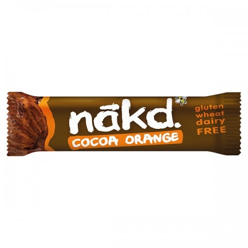 Nakd Cocoa Orange Fruit & Nut Bar 35g  Case of 18