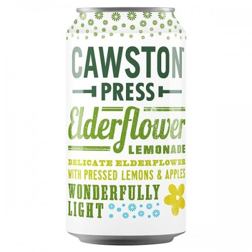 Cawston Press Elderflower Lemonade 330ml Can  Case of 24