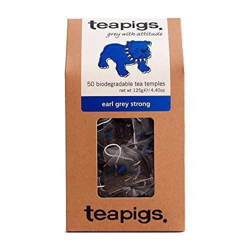 Teapigs Earl Grey Strong 50 Biodegradable Tea Temples 125g Pack 6