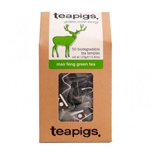 Teapigs Mao Feng Green Tea 50 Biodegradable Tea Temples 125g Pack 6
