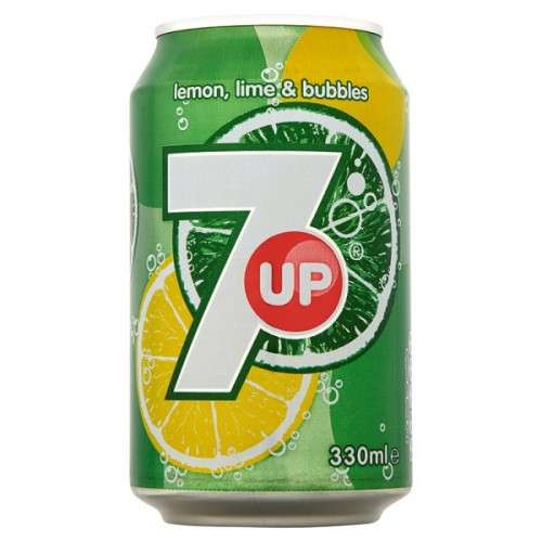 7UP Lemon, Lime & Bubbles 330ml Cans Case of 24