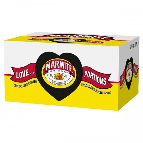Marmite Love Portions 24 x 8g case of 4