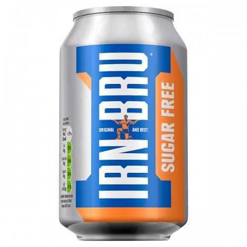 IRN-BRU Sugar Free 330ml Cans Case of 24