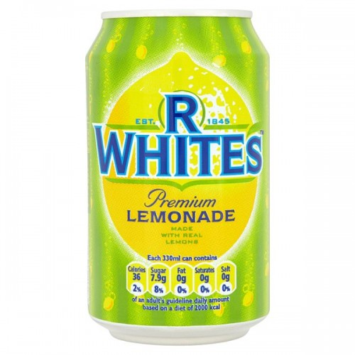 R Whites Premium Lemonade 330ml Case of 24