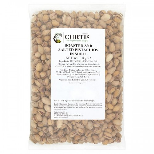 Curtis Roasted and Salted Jumbo Pistachio Nuts 1kg