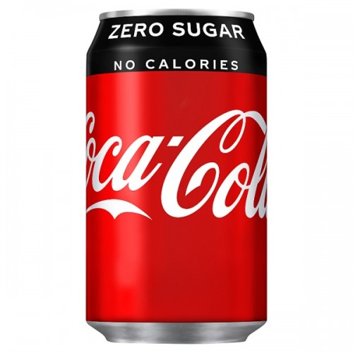 Coca-Cola Zero Sugar Coke 330ml Case 24 x cans