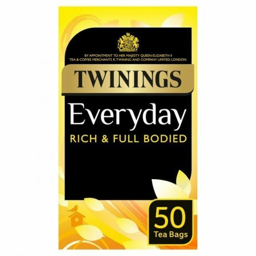 Twinings Everyday 50 Envelope Teabags 100g Pack of 50 Case of 6