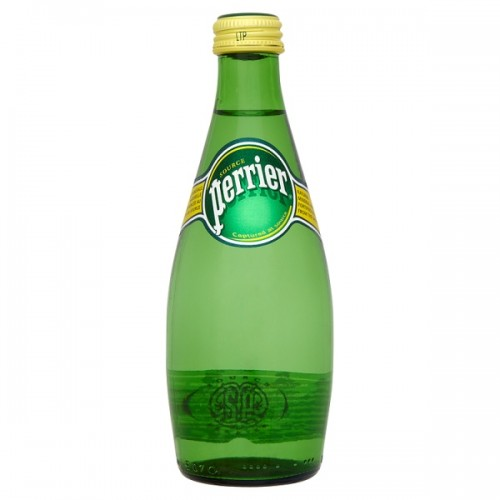 Perrier Natural Sparkling Mineral Water 33cl  Pack 24